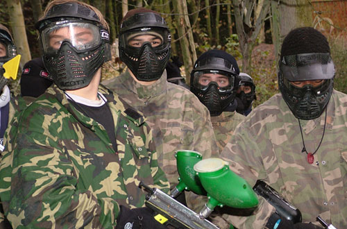 Paintballing at Hamburger Hill