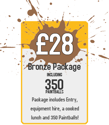Bronze Package - £28 for Entry and 350 Paintballs