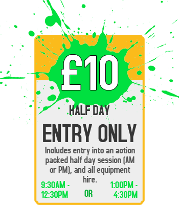 Pricing Banner - £10 for Half Day Entry