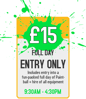 Pricing Banner - £15 for Full Day Entry