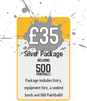 Silver Package - £35 for Entry and 500 Paintballs